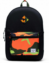 Рюкзак Herschel подростковый Heritage Youth X-Large 20l, Black/Neon Camo