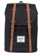 Рюкзак HERSCHEL RETREAT Black/Tan Synthetic Leather 19.5l