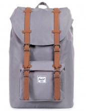 HERSCHEL рюкзак LITTLE AMERICA GREY/TAN SYNTHETIC LEATHER