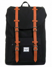 Рюкзак HERSCHEL Little America Mid-Volume Black/Tan Synthetic Leather, 17l