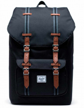 Рюкзак HERSCHEL Little America Mid-Volume Black/Black/Tan, 17l