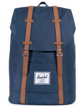 Рюкзак Herschel Retreat Navy/Tan Synthetic Leather, 19,5l