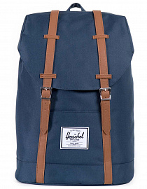 HERSCHEL рюкзак RETREAT Navy/Tan Synthetic Leather