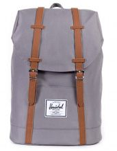 Рюкзак HERSCHEL RETREAT Grey/Tan Synthetic Leather 19.5l