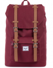 Рюкзак Herschel Herschel Little America 25l, Windsor Wine/Tan Synthetic Leather